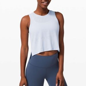 Lululemon Train To Be Tank Cropped Top Daydream